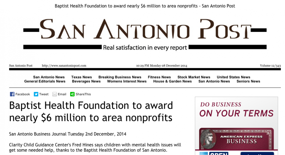 News Baptist Health Foundation Of San Antonio