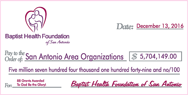 BHFSA 2016 Grants Check